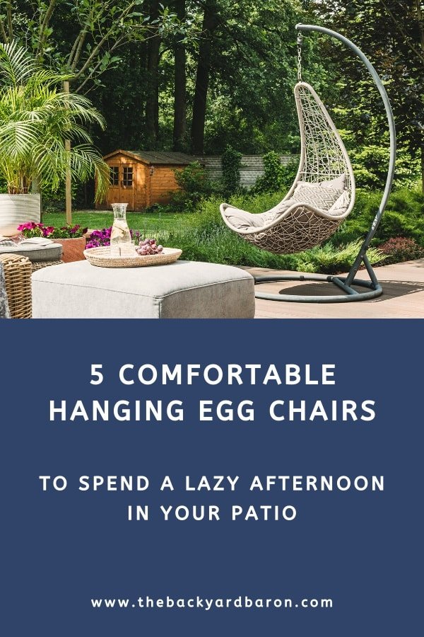 5 Comfortable outdoor hanging egg chairs with stand