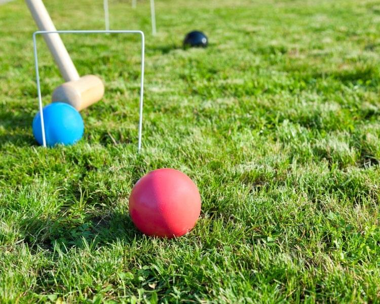 Croquet backyard game
