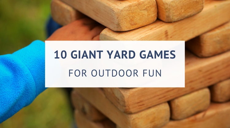 Giant yard games for outdoor fun