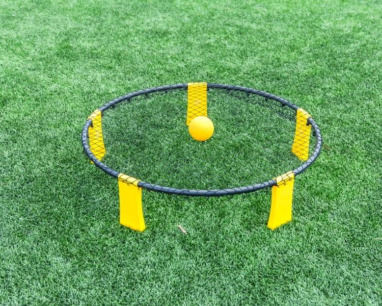 Spikeball kit on grass