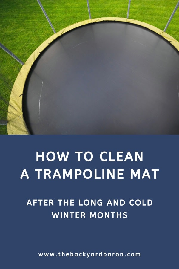 How to clean a trampoline (step by step guide)