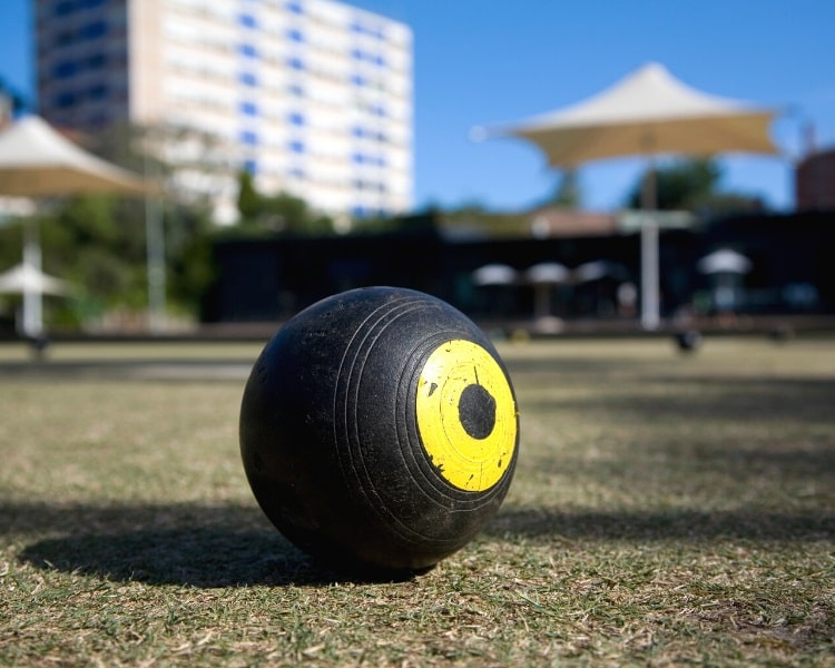 Lawn bowling balls are biased