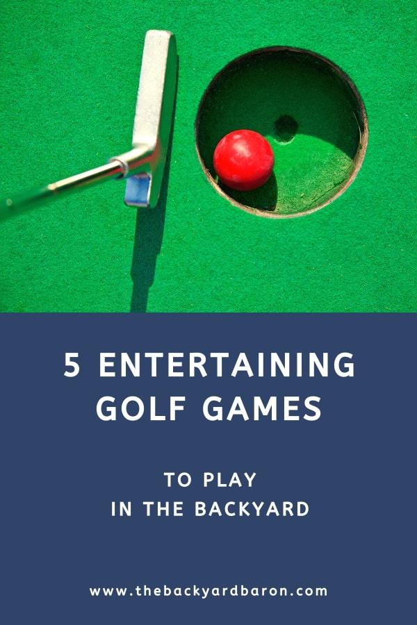 5 Entertaining backyard golf games