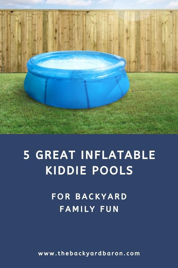 Backyard inflatable kiddie pools