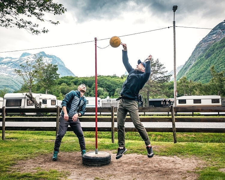 Tetherball in action