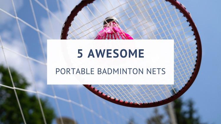 Outdoor portable badminton net sets