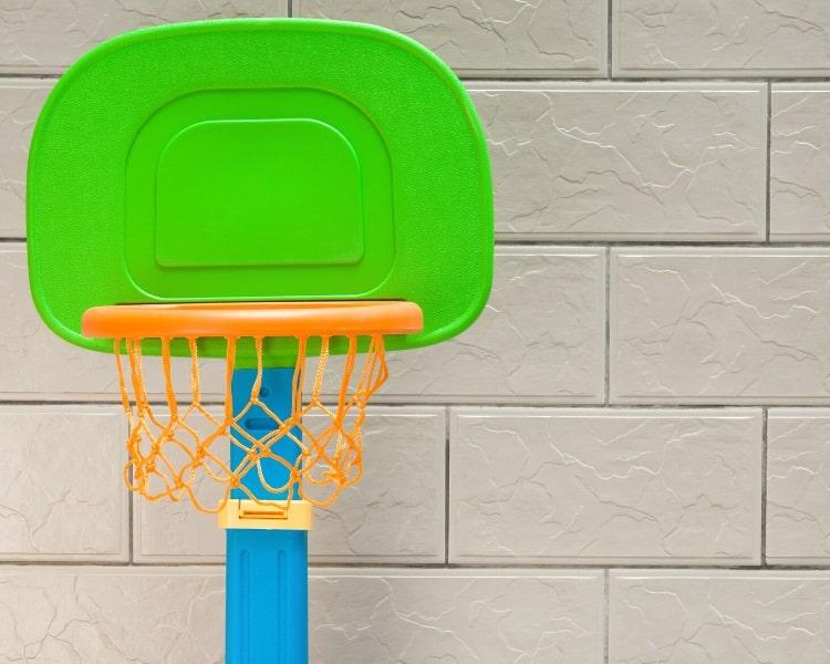 Portable basketball hoop for young kids