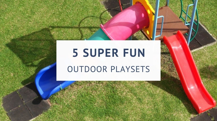 Plastic outdoor playsets for toddlers