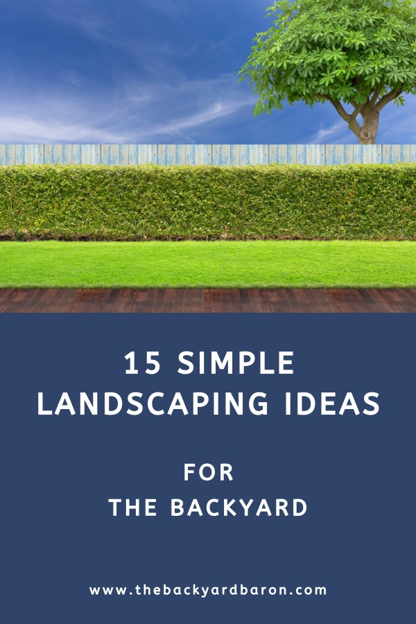 15 Easy and simple backyard landscaping ideas