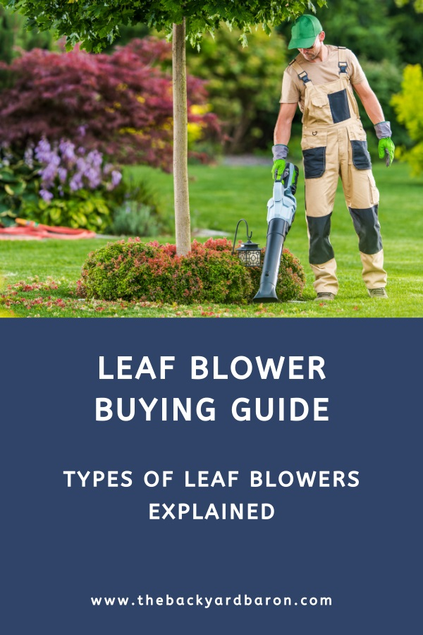 Leaf blower buying guide (types of leaf blowers explained)