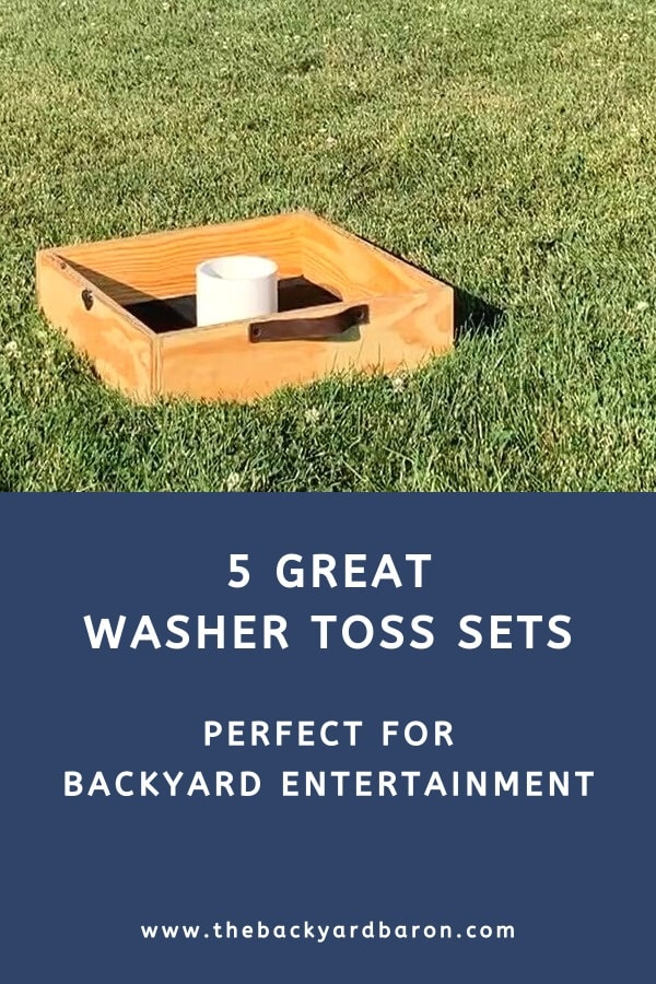 Washer toss sets for backyard play